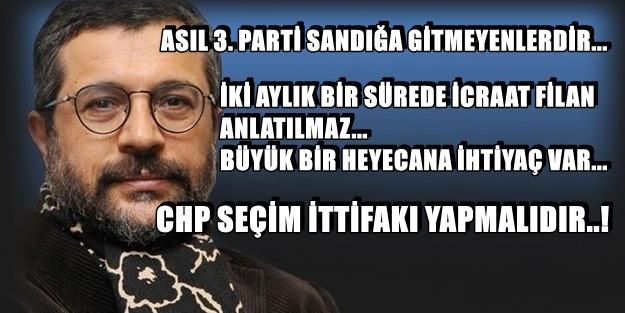 İŞTE AKP'yi İNDİRMENİN FORMÜLÜ!