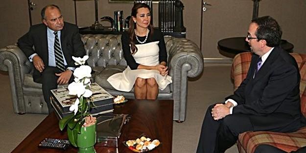 U.S. AMBASSADOR JOHN BASS HAS HELD a VISIT to HÜRRİYET