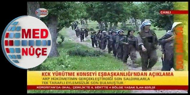 MED NUÇE TV: 'PKK ATEŞKES'i BİTİRDİ'