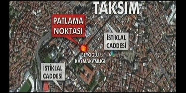 İSTİKLAL CADDESİNDE CANLI BOMBA SALDIRISI