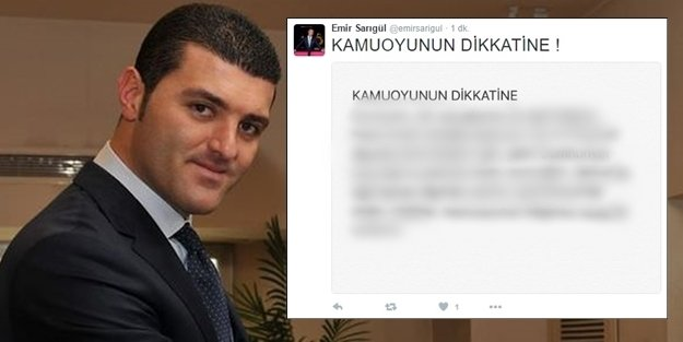 ARANAN EMİR SARIGÜL TWITTER'dan CEVAP VERDİ