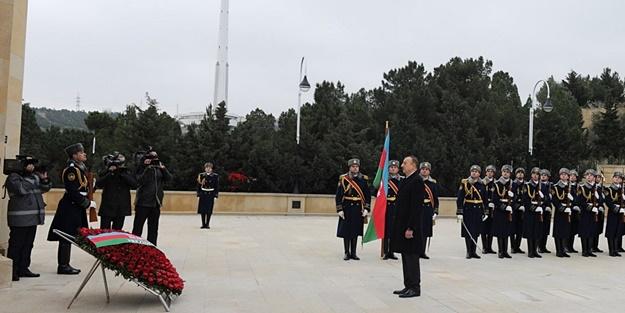 AZERBAYCAN'da '20 OCAK ŞEHİTLERİ' TÖRENLE ANILDI