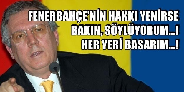 AZİZ YILDIRIM'DAN SERT VE KARARLI ÇIKIŞ!