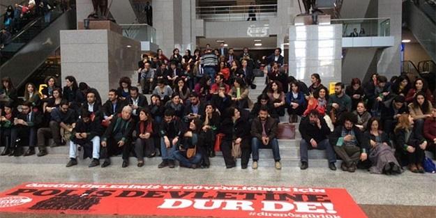 BİR GRUP AVUKATTAN 'İÇ GÜVENLİK YASA TASARISI' PROTESTOSU