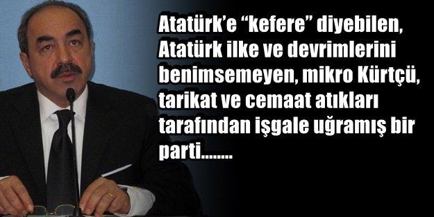 ESKİ BAKAN CHP'den DERS VEREREK İSTİFA ETTİ!