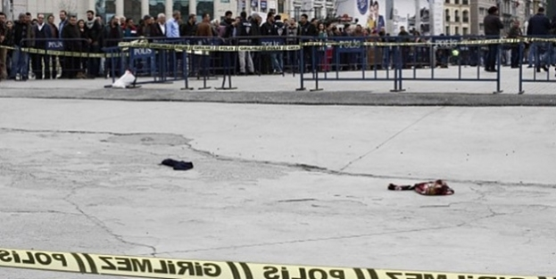 TAKSİM'de POLİSE ATEŞ EDEN KADININ KİMLİĞİ ORTAYA ÇIKTI