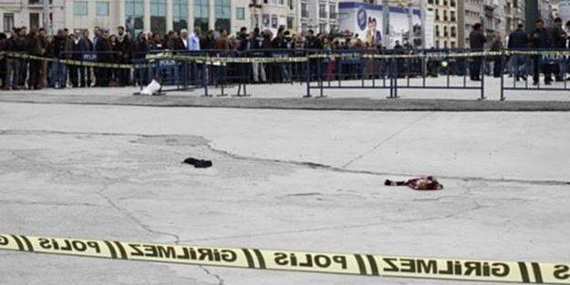 TAKSİM'DE POLİSE SİLAHLI SALDIRI