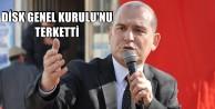 PROTESTO EDİLEN SÜLEYMAN SOYLU SALONU TERKETTİ