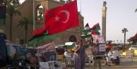 LİBYA#039;da TÜRK BAYRAKLI GÖSTERİ