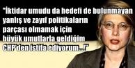 EMİNE ÜLKER TARHAN CHPDEN İSTİFA ETTİ