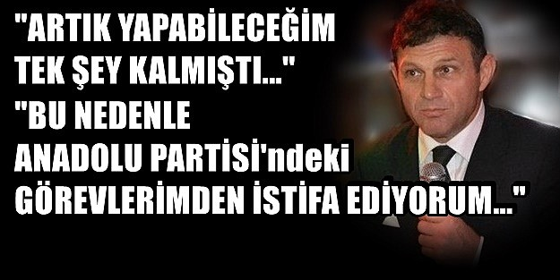 TÜRKER ERTÜRK ANADOLU'YU ZEHİR ZEMBEREK TERK ETTİ