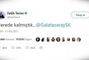 FATİH TERİM'den İLGİNÇ TWEET